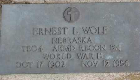 WOLF, ERNEST L. (WW II MARKER) - Dixon County, Nebraska | ERNEST L. (WW II MARKER) WOLF - Nebraska Gravestone Photos