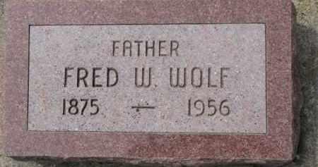 WOLF, FRED W. - Dixon County, Nebraska   FRED W. WOLF - Nebraska Gravestone Photos