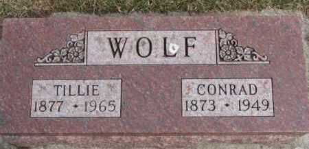 WOLF, TILLIE - Dixon County, Nebraska   TILLIE WOLF - Nebraska Gravestone Photos