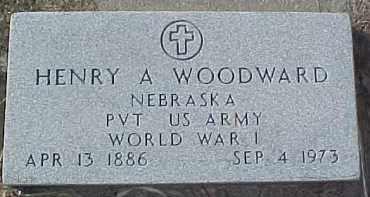 WOODWARD, HENRY A. (WW 1 MARKER) - Dixon County, Nebraska | HENRY A. (WW 1 MARKER) WOODWARD - Nebraska Gravestone Photos