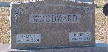 WOODWARD, IRMA I. - Dixon County, Nebraska | IRMA I. WOODWARD - Nebraska Gravestone Photos