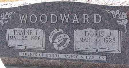 WOODWARD, DORIS J. - Dixon County, Nebraska | DORIS J. WOODWARD - Nebraska Gravestone Photos