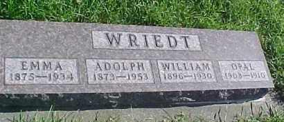 WRIEDT, WILLIAM - Dixon County, Nebraska | WILLIAM WRIEDT - Nebraska Gravestone Photos