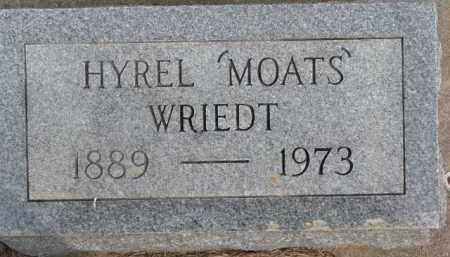 "WRIEDT, HYREL ""MOATS"" - Dixon County, Nebraska | HYREL ""MOATS"" WRIEDT - Nebraska Gravestone Photos"