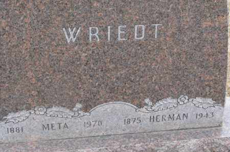 WRIEDT, META - Dixon County, Nebraska | META WRIEDT - Nebraska Gravestone Photos
