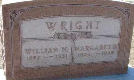 WRIGHT, MARGARET B. - Dixon County, Nebraska | MARGARET B. WRIGHT - Nebraska Gravestone Photos
