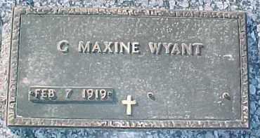 WYANT, C. MAXINE - Dixon County, Nebraska   C. MAXINE WYANT - Nebraska Gravestone Photos