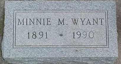 WYANT, MINNIE M. - Dixon County, Nebraska   MINNIE M. WYANT - Nebraska Gravestone Photos