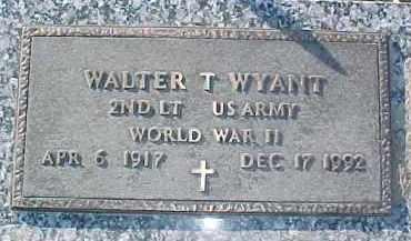 WYANT, WALTER T. - Dixon County, Nebraska | WALTER T. WYANT - Nebraska Gravestone Photos