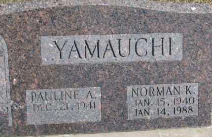 YAMAUCHI, NORMAN K. - Dixon County, Nebraska | NORMAN K. YAMAUCHI - Nebraska Gravestone Photos