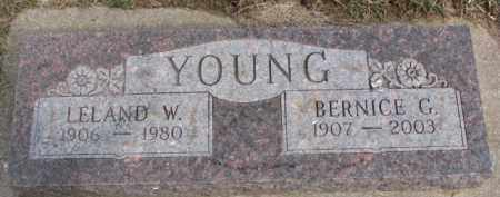 YOUNG, BERNICE G. - Dixon County, Nebraska | BERNICE G. YOUNG - Nebraska Gravestone Photos