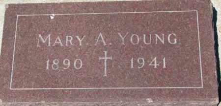YOUNG, MARY A. - Dixon County, Nebraska | MARY A. YOUNG - Nebraska Gravestone Photos