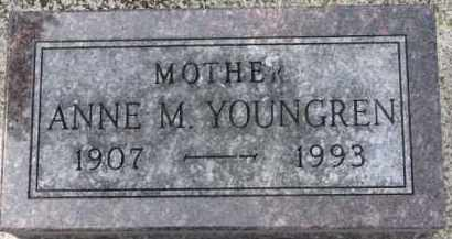 YOUNGREN, ANNE M. - Dixon County, Nebraska | ANNE M. YOUNGREN - Nebraska Gravestone Photos