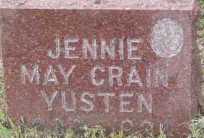 CRAIN YUSTEN, JENNIE MAY - Dixon County, Nebraska | JENNIE MAY CRAIN YUSTEN - Nebraska Gravestone Photos