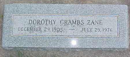 ZANE, DOROTHY - Dixon County, Nebraska | DOROTHY ZANE - Nebraska Gravestone Photos