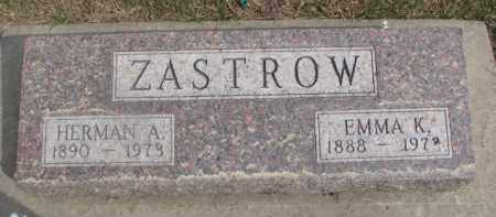 ZASTROW, HERMAN A. - Dixon County, Nebraska | HERMAN A. ZASTROW - Nebraska Gravestone Photos