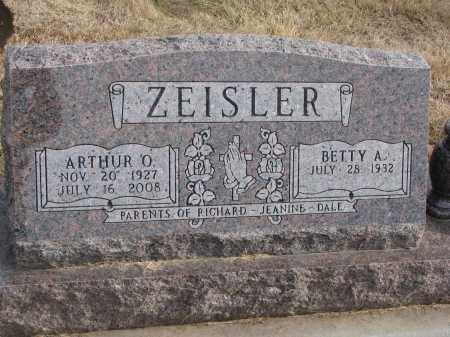ZEISLER, BETTY A. - Dixon County, Nebraska | BETTY A. ZEISLER - Nebraska Gravestone Photos