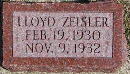 ZEISLER, LLOYD - Dixon County, Nebraska | LLOYD ZEISLER - Nebraska Gravestone Photos