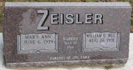 ZEISLER, MARY ANN - Dixon County, Nebraska | MARY ANN ZEISLER - Nebraska Gravestone Photos