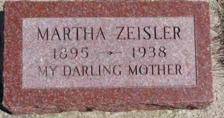 ZEISLER, MARTHA - Dixon County, Nebraska | MARTHA ZEISLER - Nebraska Gravestone Photos