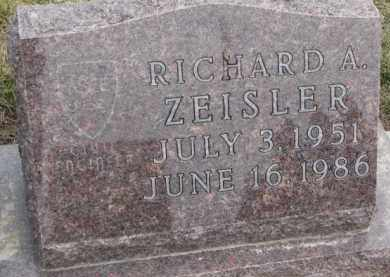 ZEISLER, RICHARD A. - Dixon County, Nebraska | RICHARD A. ZEISLER - Nebraska Gravestone Photos