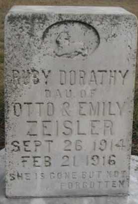 ZEISLER, RUBY DORATHY - Dixon County, Nebraska | RUBY DORATHY ZEISLER - Nebraska Gravestone Photos
