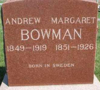 BOWMAN, ANDREW - Dodge County, Nebraska | ANDREW BOWMAN - Nebraska Gravestone Photos