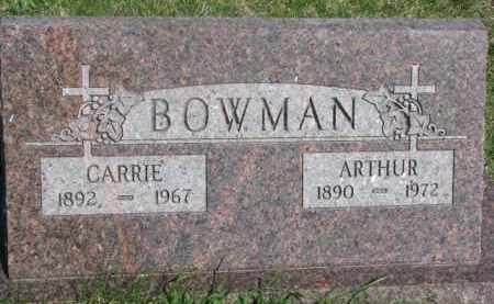 BOWMAN, ARTHUR - Dodge County, Nebraska | ARTHUR BOWMAN - Nebraska Gravestone Photos