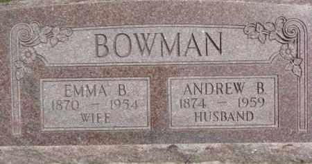 BOWMAN, EMMA B. - Dodge County, Nebraska | EMMA B. BOWMAN - Nebraska Gravestone Photos