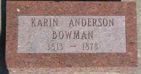ANDERSON BOWMAN, KARIN - Dodge County, Nebraska | KARIN ANDERSON BOWMAN - Nebraska Gravestone Photos