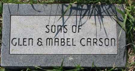CARSON, INFANT SONS - Dodge County, Nebraska   INFANT SONS CARSON - Nebraska Gravestone Photos