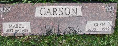 CARSON, GLEN - Dodge County, Nebraska | GLEN CARSON - Nebraska Gravestone Photos