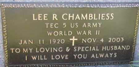 CHAMBLIESS, LEE R. (WW II MARKER) - Dodge County, Nebraska | LEE R. (WW II MARKER) CHAMBLIESS - Nebraska Gravestone Photos