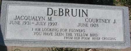 DEBRUIN, COURTNEY J. - Dodge County, Nebraska   COURTNEY J. DEBRUIN - Nebraska Gravestone Photos