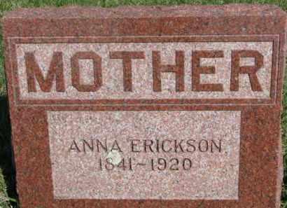 ERICKSON, ANNA - Dodge County, Nebraska | ANNA ERICKSON - Nebraska Gravestone Photos