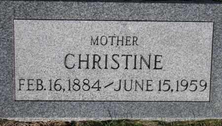 ERICKSON, CHRISTINE - Dodge County, Nebraska | CHRISTINE ERICKSON - Nebraska Gravestone Photos