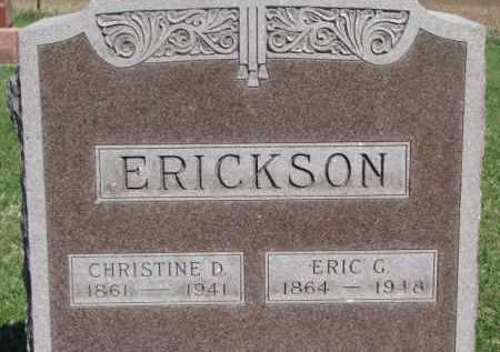 ERICKSON, ERIC G. - Dodge County, Nebraska | ERIC G. ERICKSON - Nebraska Gravestone Photos