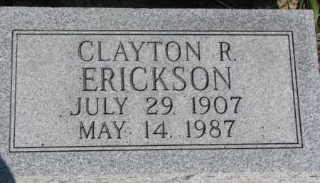 ERICKSON, CLAYTON R. - Dodge County, Nebraska | CLAYTON R. ERICKSON - Nebraska Gravestone Photos