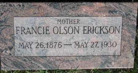 ERICKSON, FRANCIE - Dodge County, Nebraska | FRANCIE ERICKSON - Nebraska Gravestone Photos