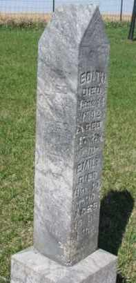 ERICKSON, EDITH - Dodge County, Nebraska | EDITH ERICKSON - Nebraska Gravestone Photos
