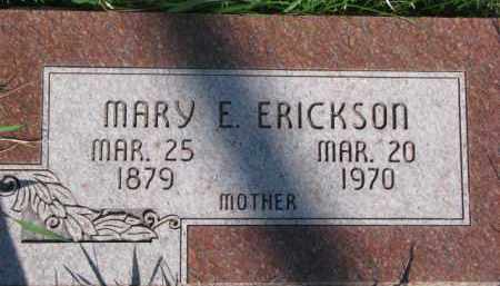 ERICKSON, MARY E. - Dodge County, Nebraska | MARY E. ERICKSON - Nebraska Gravestone Photos