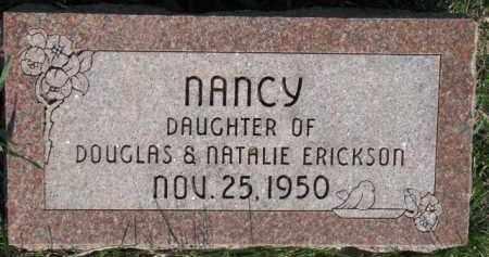 ERICKSON, NANCY - Dodge County, Nebraska | NANCY ERICKSON - Nebraska Gravestone Photos