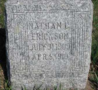ERICKSON, NATHAN L. - Dodge County, Nebraska | NATHAN L. ERICKSON - Nebraska Gravestone Photos