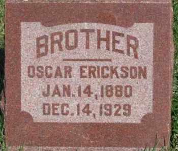ERICKSON, OSCAR - Dodge County, Nebraska | OSCAR ERICKSON - Nebraska Gravestone Photos