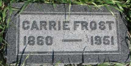 FROST, CARRIE - Dodge County, Nebraska | CARRIE FROST - Nebraska Gravestone Photos