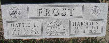 FROST, HATTIE L. - Dodge County, Nebraska | HATTIE L. FROST - Nebraska Gravestone Photos