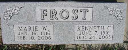 FROST, MARIE W. - Dodge County, Nebraska | MARIE W. FROST - Nebraska Gravestone Photos