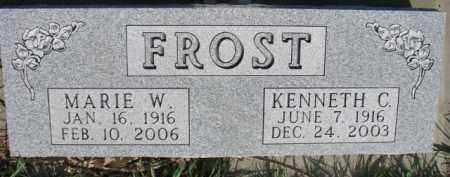 FROST, KENNETH C. - Dodge County, Nebraska | KENNETH C. FROST - Nebraska Gravestone Photos