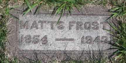 FROST, MATTS - Dodge County, Nebraska | MATTS FROST - Nebraska Gravestone Photos