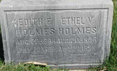 HOLMES, ETHEL V. - Dodge County, Nebraska | ETHEL V. HOLMES - Nebraska Gravestone Photos